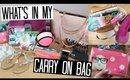 What's in my Carry On Bag! | TRAVEL SERIES