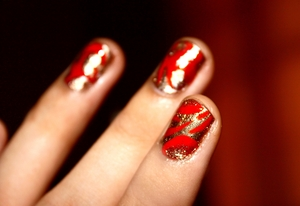 Define AMATEUR. Haha! My very first nail art. If you can call it as such :))