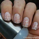 Wedding lace nails
