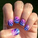 Gradient Laser Tape Manicure