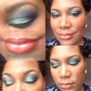 Blue teal green