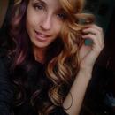 The purple half.