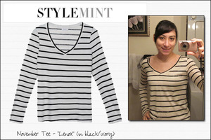 My new StyleMint tee, the Lenox!