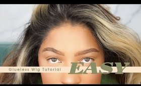 $50 Glueless Lace Front Wig Install Tutorial | SamsBeauty