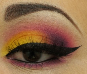 A fun look I did using the Sugarpill Burning Heart Palette I got from the Beautylish Boutique!
