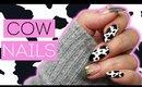 Cow Print Nail Art 🐮