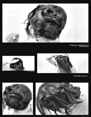 In this easy & quick winter 2012 hair tutorial video, learn how to do 2  knotted cascade waterfall braid hairstyles,  Half-up, half-down loose waves & side bun/chignon, waterfall braid updo with curls  - on yourself - for medium hair and for long hair. 