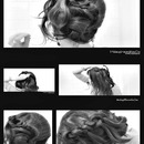Off-Center Topknot with a Four (4) Strand Braid Wrap-Around Hair Tutorial