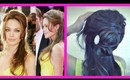 ★ANGELINA JOLIE HAIR TUTORIAL: FLOWER BUN CHIGNON, HALF-UP UPDO HAIRSTYLES Coiffure on LONG HAIR
