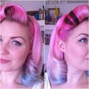 Pin up pink blue pastel hair