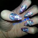 Stiletto Glitter Nails