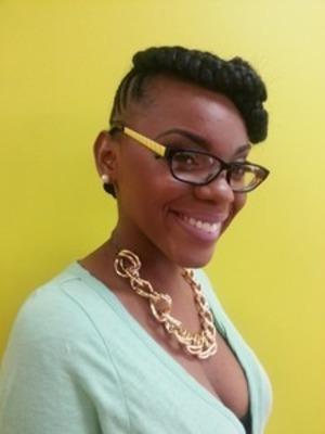 Updo on natural hair by @genastylez www.styleseat.com/tatianawilson