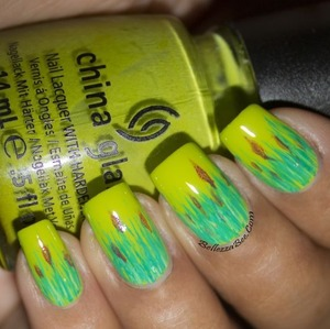 Blog post here: http://www.bellezzabee.com/2014/01/californails-january-nail-art-challenge_14.html