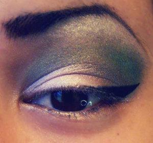 Green, Pink, & Brown Smokey eye perfect for fall w/ slight cat eye. Using all BH Cosmetics