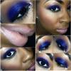Dark Purple Shadow w/ Teal Glitter on Top!