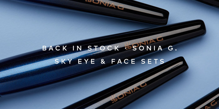 Sonia G. Sky Eye & Face Sets are now back in stock. Shop now on Beautylish.com