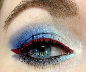 a person on IG asked me to do a Rangers makeup look.. Go Rangers!