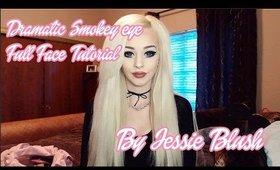 Dramatic smokey eye full face makeup tutorial