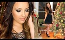 Holiday Party Makeup, Hair & Outfit | Collab with Casey Holmes