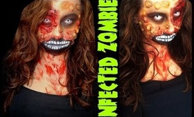 Infected Zombie- Halloween Makeup 2013