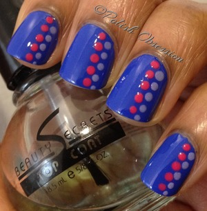 Essie Butler Please with pink and purple polka dots