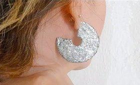 DIY Broken Record Hoop Earrings