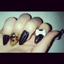 Black Stilleto Nails