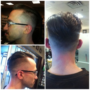 Love doing the flow with a fade all around such a funky look! Almost madmen style!