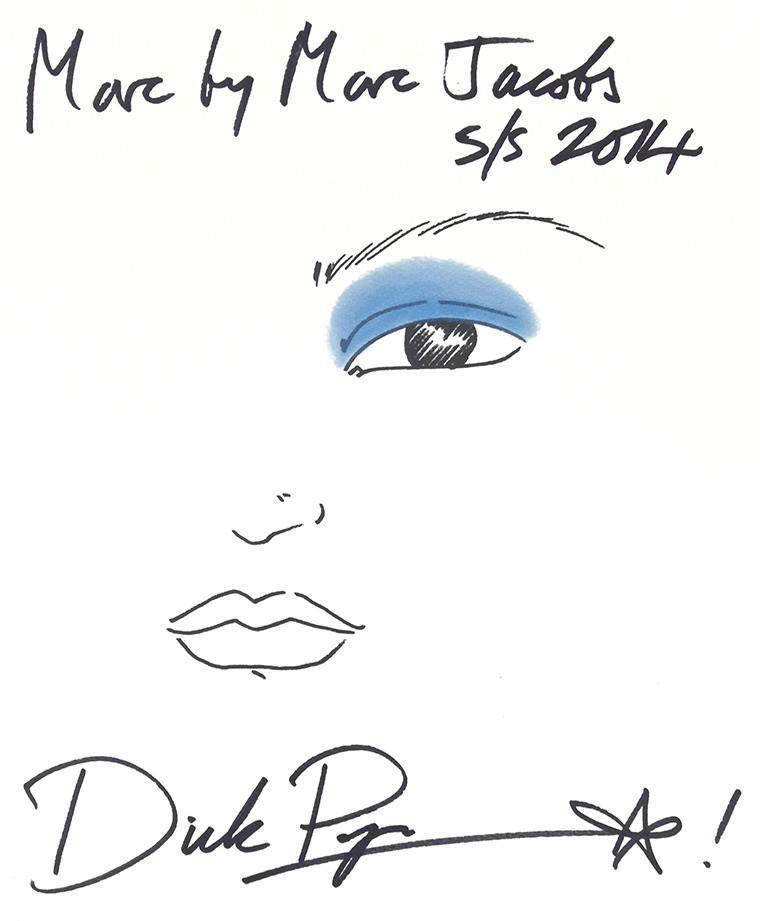 Dick Page NYFW Marc Jacobs Makeup: Face Chart