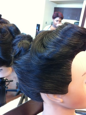 Right side of updo