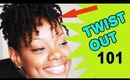 How To Twist Out Natural Hair Tutorial