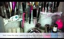 DIY - Turn a candle holder into a makeup brush holder