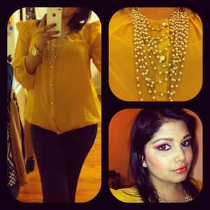 OOTD 3/2/12 Forever21- top Forecer21- Necklace