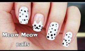 Meow Meow nails tutorial