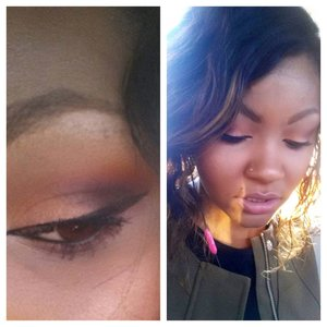 Smokey eye with neutral lips and light contouring and highlighting