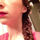 Braided fishtails and flower crown