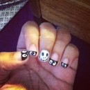 Jack nails with spooky faces