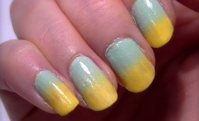 • How To : Easy Gradient Nails • Australia Day Nail Polish Art •