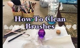 How to Clean Brushes, Fast and Effective