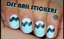 DIY Chevron Nail Stickers - VERY EASY