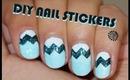 DIY Chevron Nail Stickers - VERY EASY