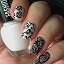 Black & White Fairytale Nails