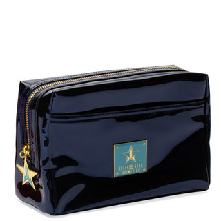 Reflective Makeup Bag Dark Blue