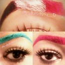 Colorful Eyebrows! Labor Day Fun!