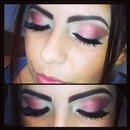 Dramatic pink eyeshadow