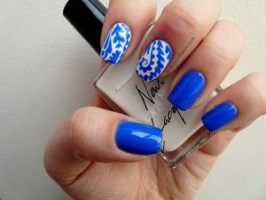 blue & white china print