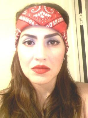Chola inspired makeup look