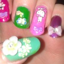 Hello kitty and flowers