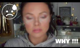FULL FACE OF MAKEUP USING WET BRUSHES - MAKEUP CHALLENGE   Danielle Scott
