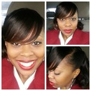 Neutral Eye and Deep Red Lip